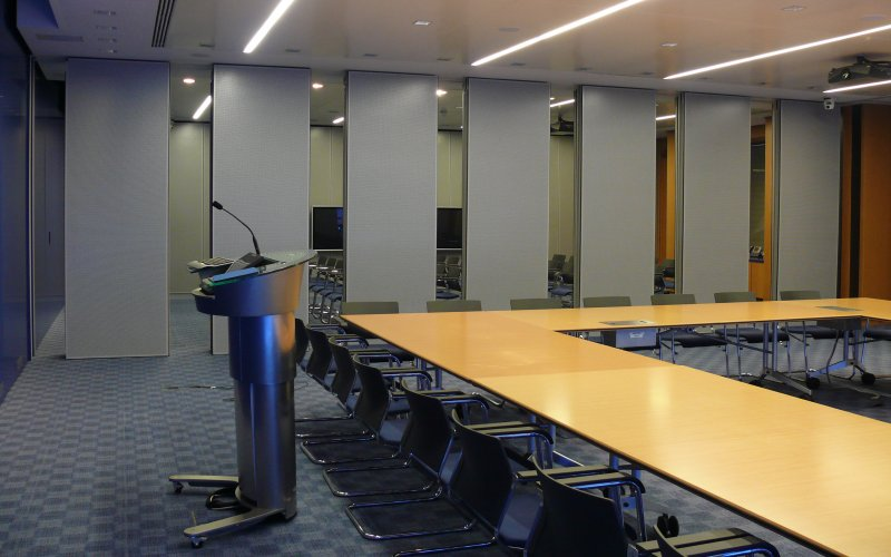 Series AP100 Movable Acoustic Wall With Grey Melamine Finish