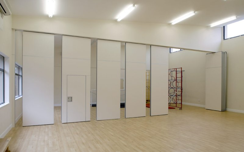 Series AP100 Movable Acoustic Wall With Single Inset Passdoor Panel