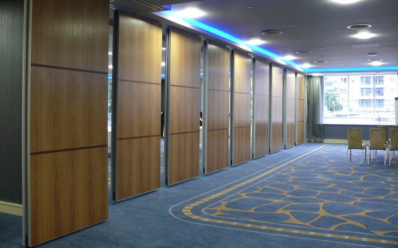 Series AP100 Acoustic Movable Wall With Custom Designed Veneer Finish