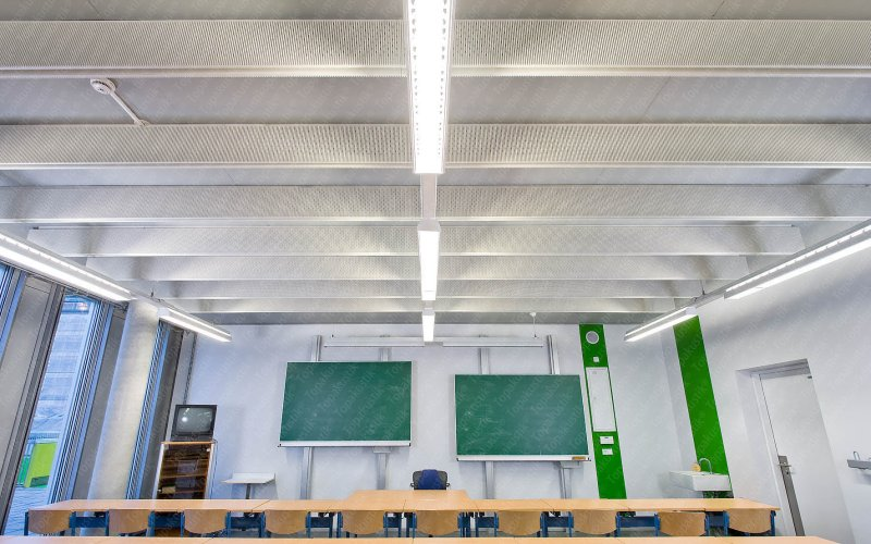 Topakustik Linear Slotted Painted Hanging Ceiling Baffles